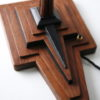 Art Deco Teak Table Lamp 5