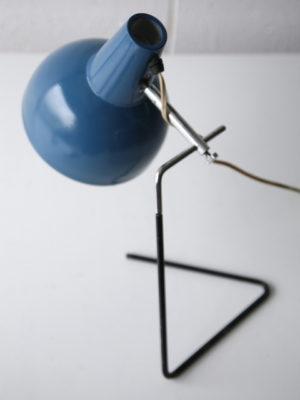 Blue 1950s Desk Lamp by Josef Hurka for Napako 1