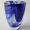 Kosta Boda Blue Swirls Art Glass Vase 1