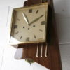 Large 1950s Rosewood Wall Clock 4