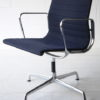 Navy Blue Aluminum Office Chairs by Charles Eames 5