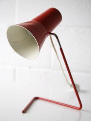 Red 1950s Desk Lamp by Josef Hurka for Drupol 1