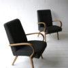Vintage Beech Armchairs by Jindrich Halabala