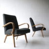 Vintage Beech Armchairs by Jindrich Halabala 5