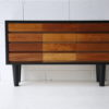 Vintage Teak & Black Chest Drawers 1