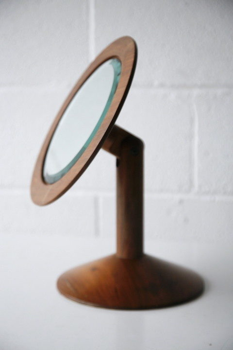 Vintage Wooden Vanity Mirror by John Makepeace 6