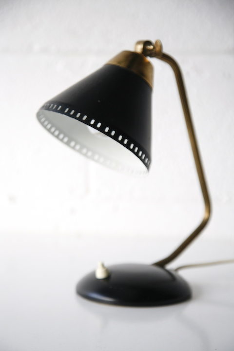 1950s Black Desk Lamp