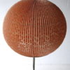 1950s Floor Lamp with Pink Pleated Shade 3
