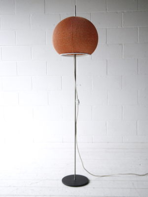 1950s Floor Lamp with Pink Pleated Shade 4