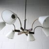 1950s French 6 Arm Ceiling Light 2