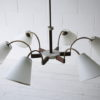 1950s French 6 Arm Ceiling Light 4
