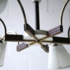 1950s French 6 Arm Ceiling Light 5