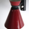 1950s French Red Wall Lamp 1