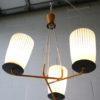 1950s Glass Ceiling Light 4