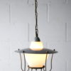 1950s Grey Lantern Ceiling Light