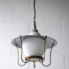 1950s Grey Lantern Ceiling Light 6