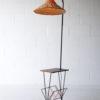 1950s Teak Wicker Floor Lamp 1