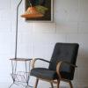 1950s Teak Wicker Floor Lamp