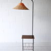 1950s Teak Wicker Floor Lamp 4