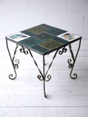 1950s Tiled Iron Table