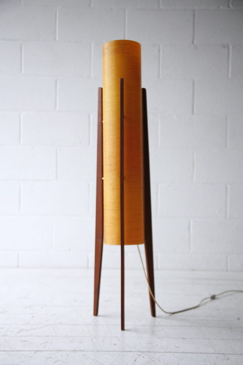 1960s Fibreglass Rocket Lamp