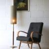 1960s Teak Brass Floor Lamp