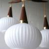 1960s Teak Glass Danish Pendant Light 2