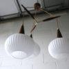 1960s Teak Glass Danish Pendant Light 3