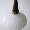 1960s Teak Glass Danish Pendant Light 4