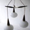 1960s Teak Glass Danish Pendant Light 5