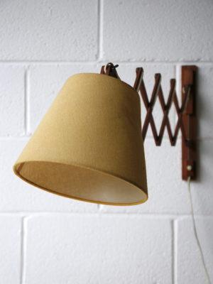 1960s Teak Scissor Wall Light 4