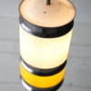 1960s Yellow White Ceiling Light 1