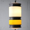 1960s Yellow White Ceiling Light