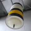 1960s Yellow White Ceiling Light 2