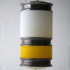 1960s Yellow White Ceiling Light 4
