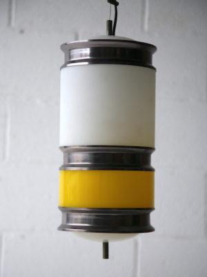 1960s Yellow White Ceiling Light 4