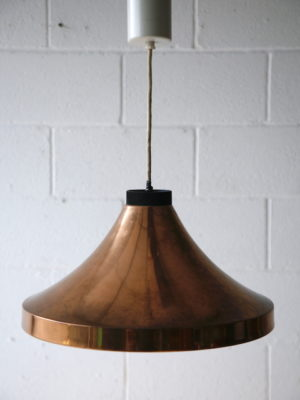 1970s Copper Ceiling Light 2