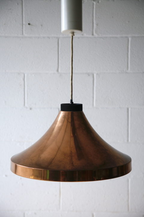 1970s Copper Ceiling Light 2