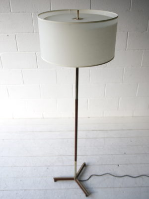 1970s Rosewood Floor Lamp 1