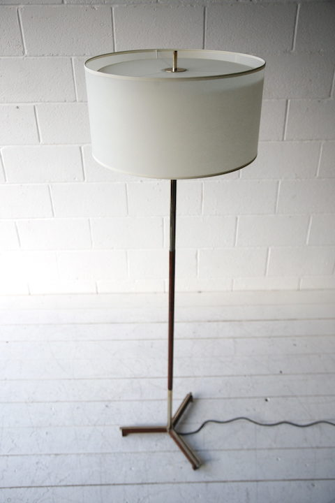 1970s Rosewood Floor Lamp 1