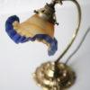 Art Deco Brass Desk Lamp with Vianne Shade 1