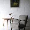 Art Deco Brass Desk Lamp with Vianne Shade