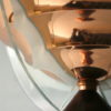Art Deco Copper Glass Floor Lamp by Petitot France 1