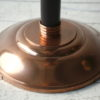 Art Deco Copper Glass Floor Lamp by Petitot France