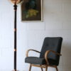 Art Deco Copper Glass Floor Lamp by Petitot France 4
