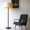 Art Deco Walnut Brass Floor Lamp