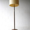 Art Deco Walnut Brass Floor Lamp 4
