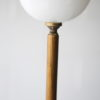 French 1950s Floor Lamp with Glass Shade 2