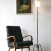 French 1950s Floor Lamp with Glass Shade 4