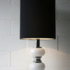 Large 1970s Chrome Glass Table Lamp 2